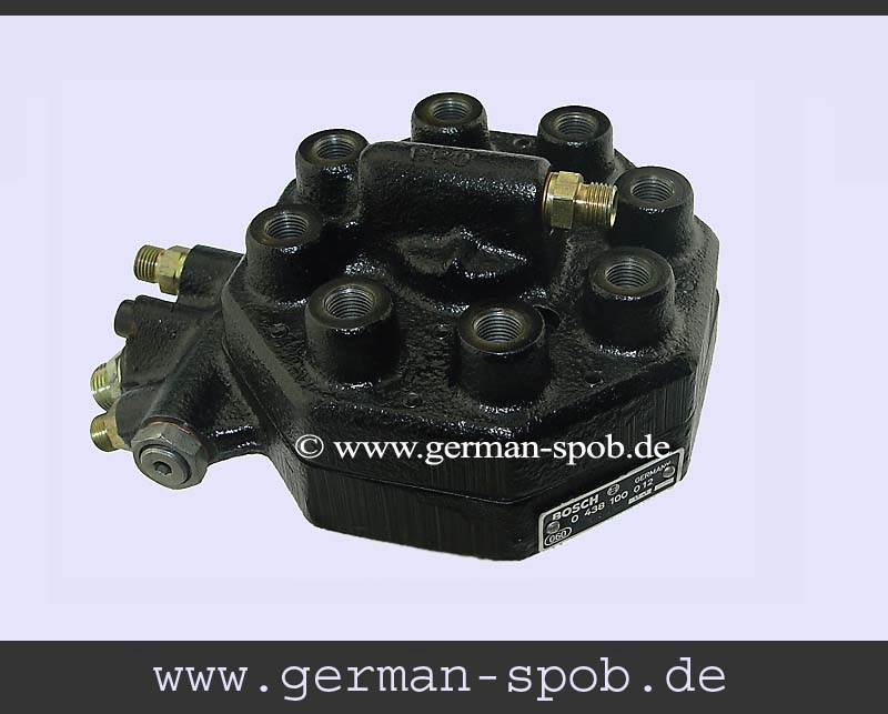 0438100012 Fuel Distributor  Regenerated Condition Mercedes Benz W116 450 Se Sel Saloon   (Bosch: 0438100012, 0 438 100 012, 0-438-100-012)