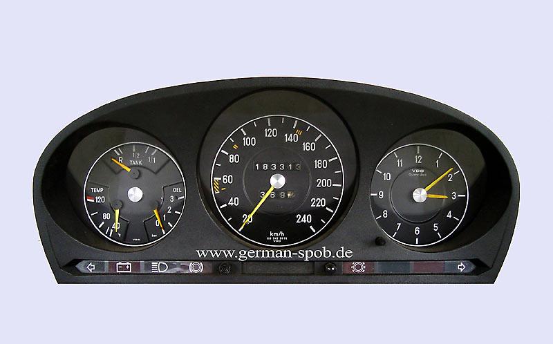 Used Mercedes Sprinter >> Instrumenten Cluster - Speedometer 240km/h, W116, 280sel, R107, 280sl Mercedes-Benz / Vdo ...