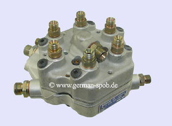 0438100084 FUEL DISTRIBUTOR | MERCEDES M110 280 SE W123 W116 R107 C107 W460 | GENERAL REFURBISHED 0 438 100 084  Mercedes W123, W116, R107, C107, W460 mit M110